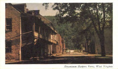 Downtown - Harpers Ferry, West Virginia WV Postcard