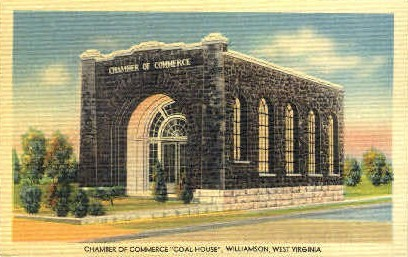 Chamber of Commerce - Williamson, West Virginia WV Postcard
