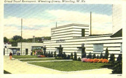 Grand Stand Restaurant - Wheeling, West Virginia WV Postcard