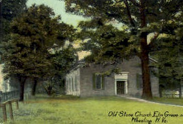 Old Stone Church  - Wheeling, West Virginia WV Postcard
