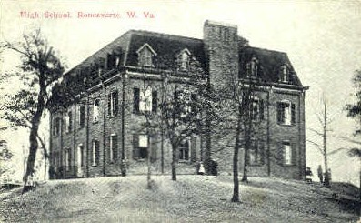 High School - Ronceverte, West Virginia WV Postcard