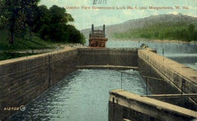 Government Lock Number 9 - Morgantown, West Virginia WV Postcard