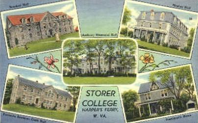 Storter College - Harpers Ferry, West Virginia WV Postcard