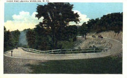 Cadiz Pike - Wheeling, West Virginia WV Postcard