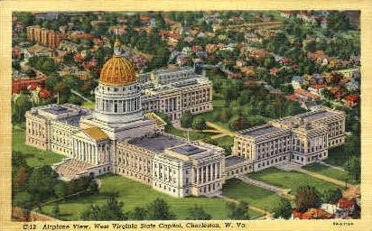 State Capitol - Charleston, West Virginia WV Postcard