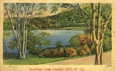 Paden City - West Virginia WV Postcard