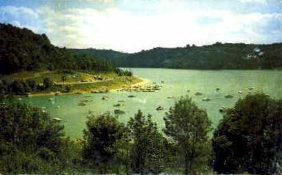 Tygart Lake - Grafton, West Virginia WV Postcard