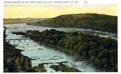Island Park - Harpers Ferry, West Virginia WV Postcard