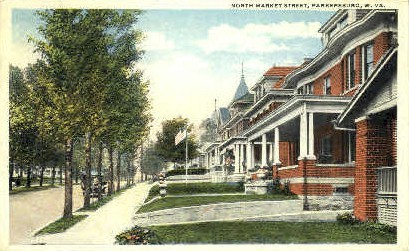 Market Street - Parkersburg, West Virginia WV Postcard