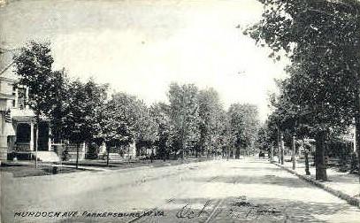 Murdoch Avenue - Parkersburg, West Virginia WV Postcard