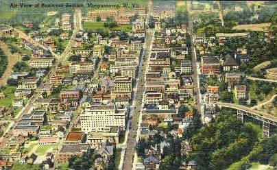 Business Section - Morgantown, West Virginia WV Postcard
