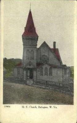 M. E. Church - Belington, West Virginia WV Postcard