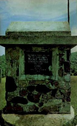 Log Cabin of Nancy Hanks Monument - Antioch, West Virginia WV Postcard