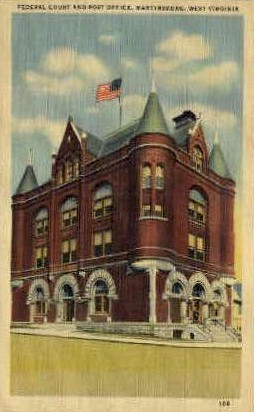 Post Office  - Martinsburg, West Virginia WV Postcard