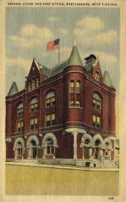 Martinsburg, West Virginia, WV Postcard