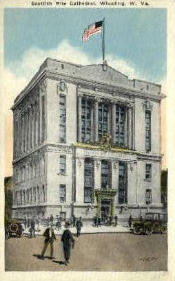 Scottish Rite Cathedral - Wheeling, West Virginia WV Postcard