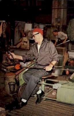 Blenko Glass Company - Milton, West Virginia WV Postcard