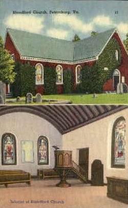 Blandford Church - Petersburg, West Virginia WV Postcard