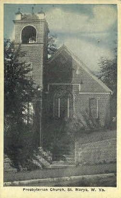 Presbyterian Church  - St Marys, West Virginia WV Postcard