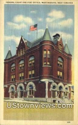 Federal Court & Post Office - Martinsburg, West Virginia WV Postcard