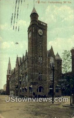 City Hall - Parkersburg, West Virginia WV Postcard