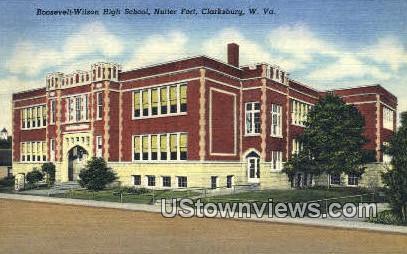 Roosevelt Wilson High School - Clarksburg, West Virginia WV Postcard