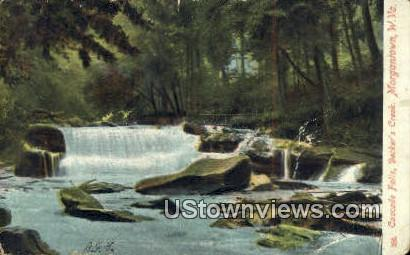 Cascade Falls, Decker's Creek - Morgantown, West Virginia WV Postcard