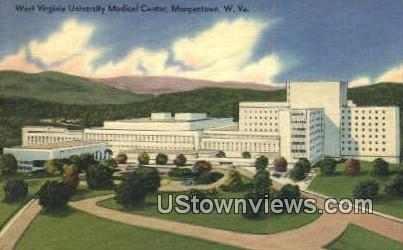 WV University Medical Center - Morgantown, West Virginia WV Postcard