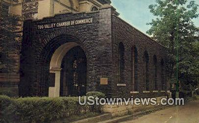 Tug Valley Chamber of Commerce - Williamson, West Virginia WV Postcard