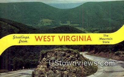 New Creek Mountain, WV,     ;     New Creek Mountain, West Virginia Postcard