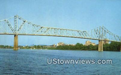 Ohio River Bridge - Huntington, West Virginia WV Postcard