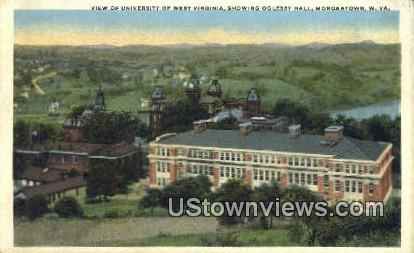 University of WV, Oglesby Hall - Morgantown, West Virginia WV Postcard