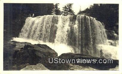 Real Photo - Blackwater Falls - Davis, West Virginia WV Postcard