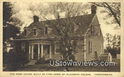 Home of Elizabeth Nelson - Yorktown, West Virginia WV Postcard