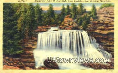 Blackwater Falls, WV,     ;     Blackwater Falls, West Virginia Postcard