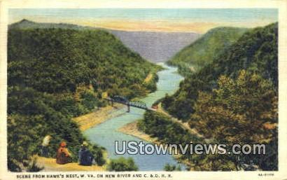 Hawks Nest, West Virginia,     ;     Hawks Nest, WV Postcard