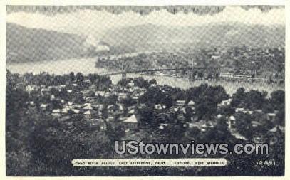 Ohio River Bridge - Chester, West Virginia WV Postcard