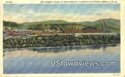 Edwin M Knowles Potteries - Newell, West Virginia WV Postcard