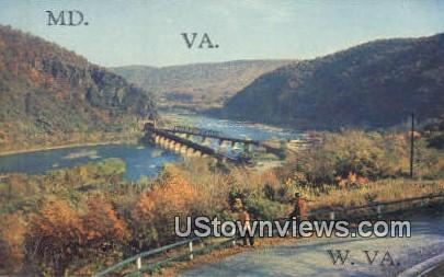 Harpers Ferry, West Virginia,     ;     Harpers Ferry, WV Postcard