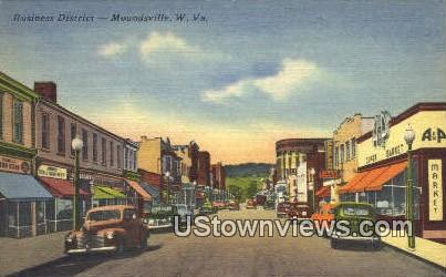 Business District - Moundsville, West Virginia WV Postcard