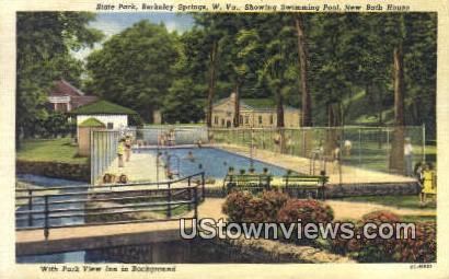 State Park, New Bath House - Berkeley Springs, West Virginia WV Postcard