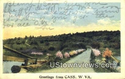 Cass, West Virginia,     ;     Cass, WV Postcard