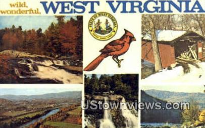 Greenbriar River, WV,     ;     Greenbriar River, West Virginia Postcard