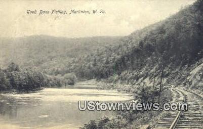 Good Bass Fishing - Marlinton, West Virginia WV Postcard