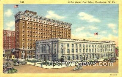 US Post Office - Huntington, West Virginia WV Postcard