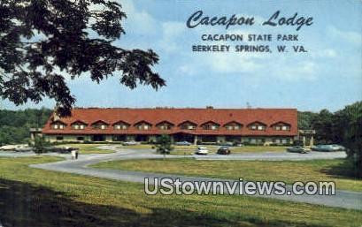 Cacapon Lodge, Cacapon State Park - Berkeley Springs, West Virginia WV Postcard