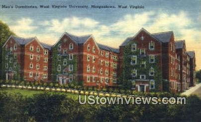 Men's Dorm, WV University - Morgantown, West Virginia WV Postcard