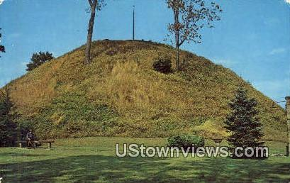 Mammoth Mound - Moundsville, West Virginia WV Postcard