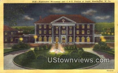 Huntington Museum & C & O Station - West Virginia WV Postcard