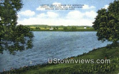 Old Norwegian Church & Chapel Hill - Whitewater Lake, West Virginia WV Postcard